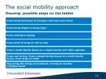 the social mobility approach2