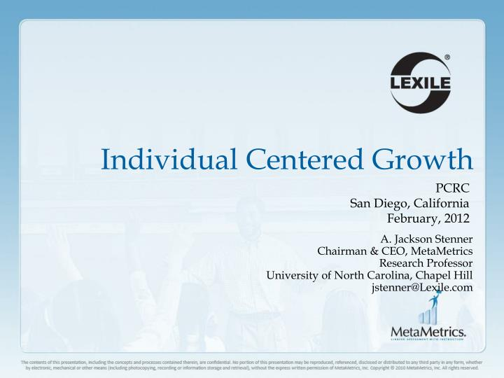 individual centered growth n.