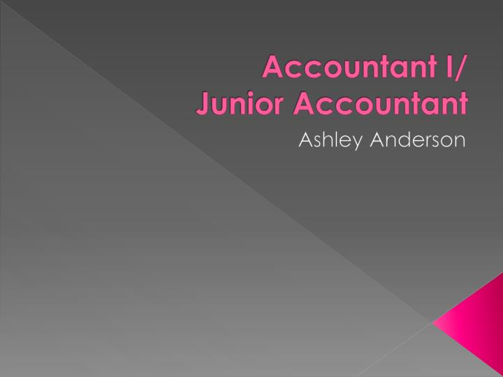 accountant i junior accountant n.