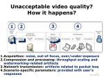 unacceptable video quality how it happens