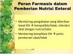 peran farmasis dalam pemberian nutrisi enteral