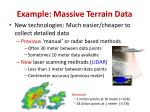 example massive terrain data