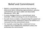 belief and commitment