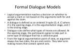 formal dialogue models