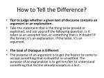 how to tell the difference
