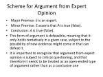 scheme for argument from expert opinion