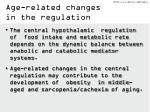 age related changes in the regulation1