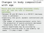 changes in body composition with age1