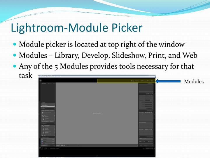 Lightroom-Module Picker