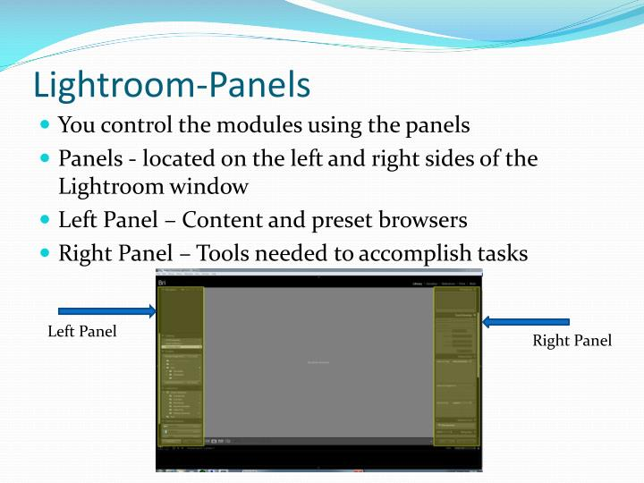 Lightroom-Panels