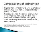 complications of malnutrition1