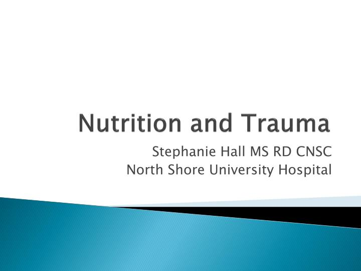 nutrition and trauma n.