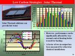 low carbon strategies solar thermal