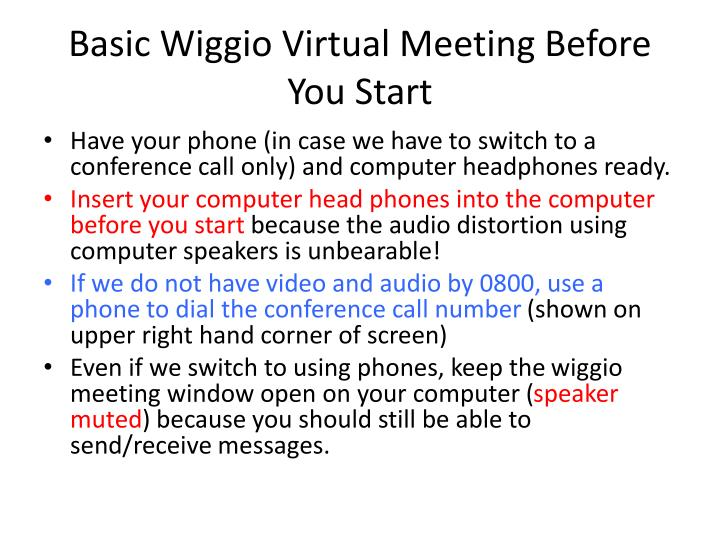 basic wiggio virtual meeting before you start n.