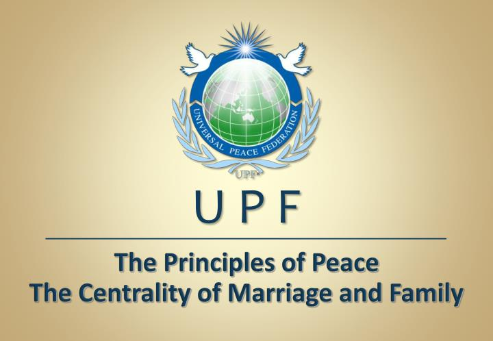 the principles of peace the centrality of marriage and family n.