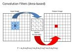 convolution filters area based