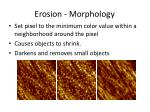 erosion morphology