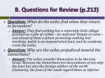 b questions for review p 212