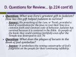 d questions for review p 224 cont d1