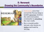 d renewal drawing the community s boundaries1