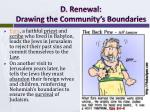 d renewal drawing the community s boundaries3