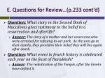 e questions for review p 233 cont d1
