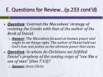 e questions for review p 233 cont d2