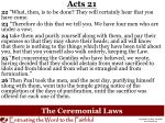 the ceremonial laws1