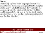 the ceremonial laws2