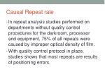 causal repeat rate