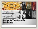 section 1 the scientific revolution