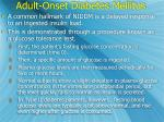 adult onset diabetes mellitus1