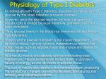 physiology of type i diabetes