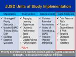 jusd units of study implementation