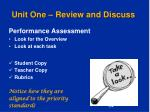 unit one review and discuss4