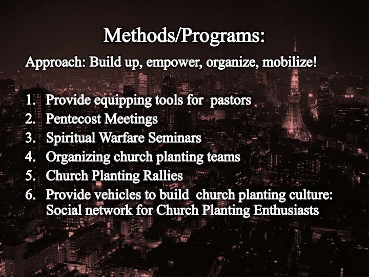 Methods/Programs: