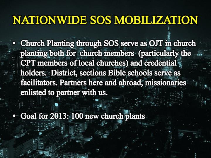 NATIONWIDE SOS MOBILIZATION