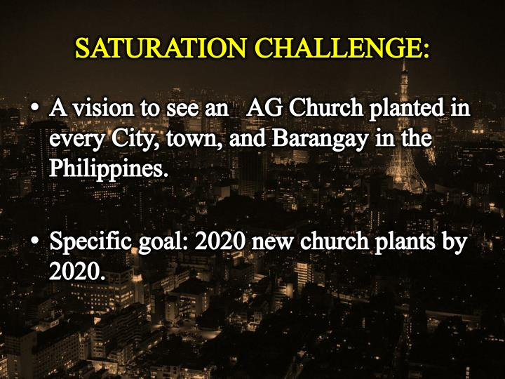 SATURATION CHALLENGE: