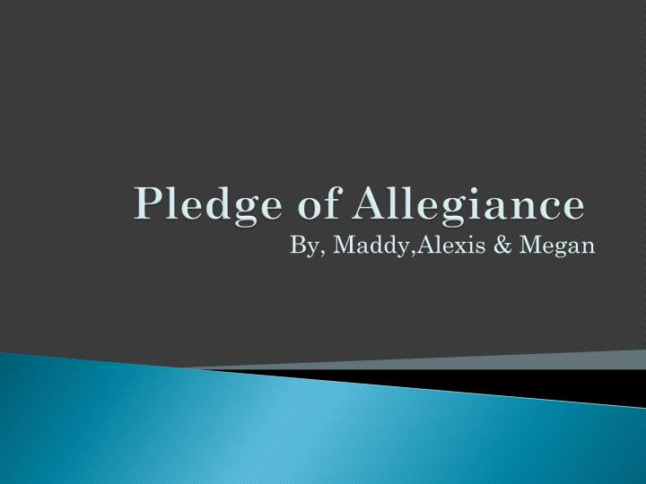 pledge of allegiance n.