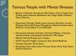 famous people with mental illnesses