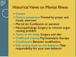 historical views on mental illness