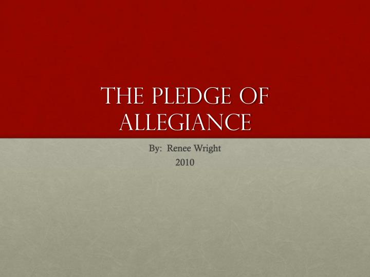 the pledge of allegiance n.