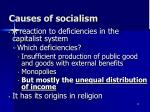 causes of socialism