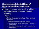macroeconomic instabilities of market capitalism pp 43 48