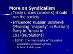 more on syndicalism