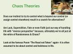 chaos theories
