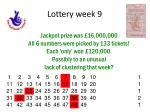 lottery week 9
