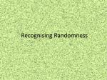 recognising randomness1