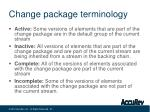 change package terminology