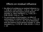 effects on residual influence